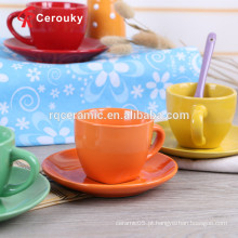 Copo de cerâmica define conjunto de xícara de café árabe
