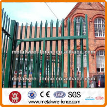 Weight metal palisade house fence