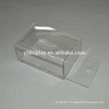 Couverture de boîte de tissu acrylique personnalisée et recyclée
