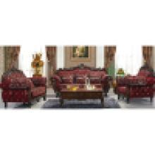 Sofa mit Holzsofa und Couchtisch (929K)