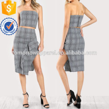 Plaid Tube Top y Maching Skirt Set Fabricación venta al por mayor Fashion Women Apparel (TA4110SS)