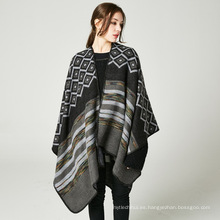 Nuevo estilo de gran tamaño pashmina bufanda de las mujeres 50% acrylic50% poliéster abrigos de poncho de invierno