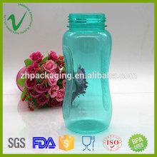 Botella transparente de grado alimenticio que bebe botella plástica del deporte libre de BPA