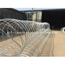 Venta caliente Galvanizado Razor Barbed Wire Práctico