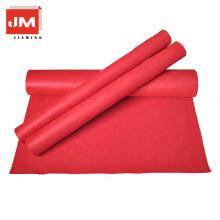 Eco-friendy fieltro tela cubierta paño grueso y suave alfombra roja