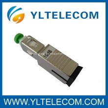 SC de fibra óptica atenuador 5 dB 10 dB 20DB 15DB 30DB para FTTP IEC