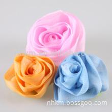 Colorful Unique Exfoliating bath flower scrub sponge