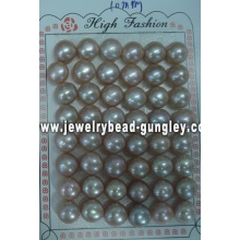 Mitad perforado perla grado AAA 10mm, púrpura