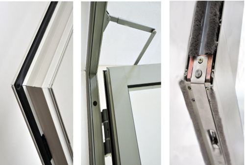 Door Leafs with Aluminum Profiles for Automatic Swing Doors
