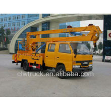 Altura de operación de 16m Elevador hidráulico de la viga, camión de plataforma móvil de la cabina del equipo de JMC