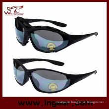 C4 Sun Glaseese taktisches Schiessen Gläser 4 Set Objektiv und Gürtel