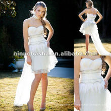 Drop waist bodice sweetheart neckline pencil skirt wedding dress