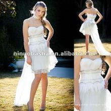 Падение талии лиф милая декольте юбка-карандаш свадебное платье