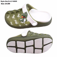 Hot Sale New Arrival Kids Clogs, EVA Clog with Bright-Colored TPE Upper