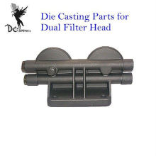 Aluminiumeinspritzung druckgegossene Komponenten für Doppelfilterkopf