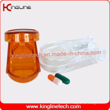 Customized Color Plastic Pill Box with 2-Cases (KL-9002)