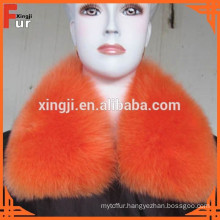 dyed color with lining real fox fur collar
