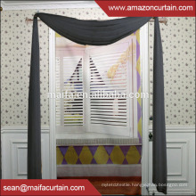 Latest New Model 2016 Free Sample Fabric Sheer Designs Panels, Organza, Voile Curtain