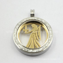 Fashion 316L Stainless Steel Coin Pendant Jewelry for Women