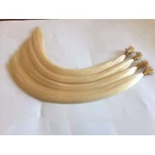 Beste Qualität europäischen Jungfrau Remy Double Drawn flache Spitze Haarverlängerungen