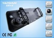 1280 * 720P Car Rear View Mirror Camera Car DVR Cam With LC