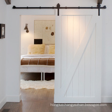 Traditional Sliding Barn Wooden Door with Barn Door Hardware
