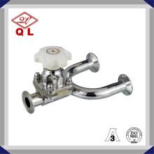 Válvula de diafragma de tipo U de aço inoxidável sanitário