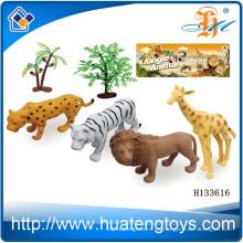 2014 Wholsale plástico salvaje animal de juguete realista, juguete figurillas animales H133616