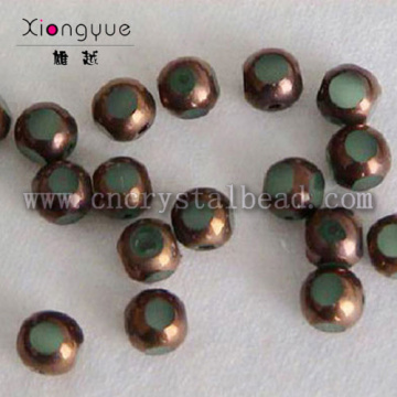 brass coated crystal glass ball Plated Bead