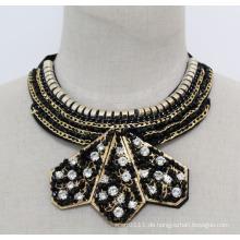 Lady Fashion Charm Kristall Modeschmuck Anhänger Halskette (JE0167)