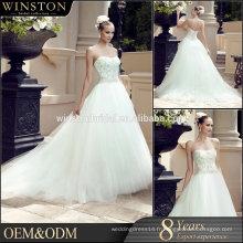 Vente en gros Fashion Design sexy voir à travers la robe de mariage corset