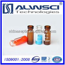 Flacon en verre à 1 μl à crémaillère à vide pour analyse HPLC