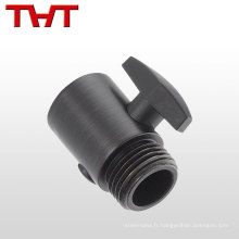 Soupape de régulateur de pression de carburant d'eau électrique noire de PVC / valve de régulation sanitaire