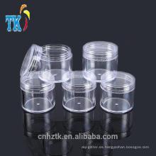 5g10g15g20g plástico tarros cosméticos / PS muestra pequeña crema tarro