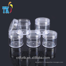 Bocaux cosmétiques en plastique 5g10g15g20 / petit pot de crème à échantillon PS