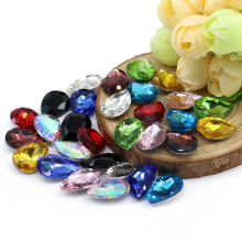 Wholesale mix color teardrop glass stone