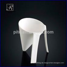 Neue spezielle Form Procelain Becher Procelain Eiscreme Tasse Dessert Tasse