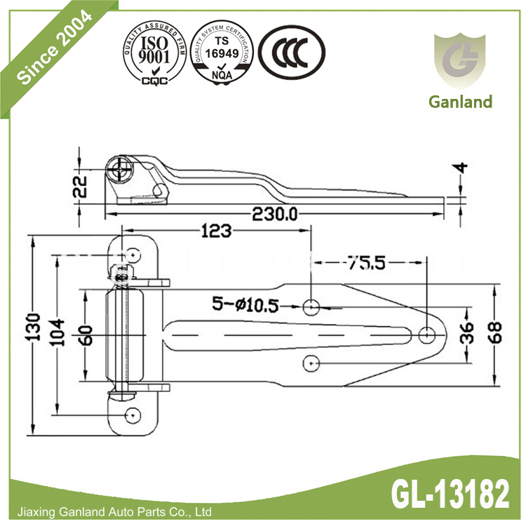 Large Over Seal Hinge gl-13182