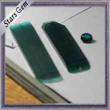 Dark Green High Quality Lab creó Emerald Raw Material Rough