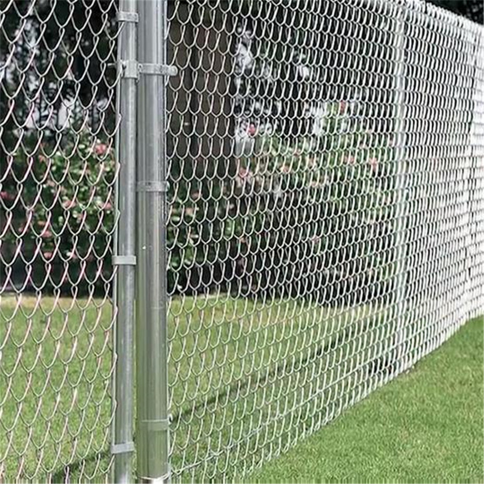 Aluminized chain link mesh fabric