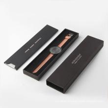 Boîte de rangement d'emballage de luxe montre de bijoux noir