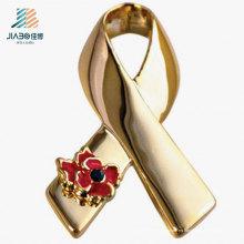 China Pin de solapa de la aduana del metal de la insignia del oro de la fuente de Wenzhou para la promoción
