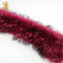 Corte de pele de guaxinim genuíno de qualidade superior para capuz e vestuário