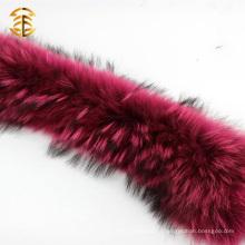Верхнее качество Подлинное украшение из енота для капота и одежды