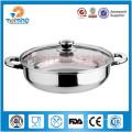 Potenciômetro quente de aço inoxidável / indução que cozinha o potenciômetro para a venda / potenciômetro quente de aço inoxidável indiano