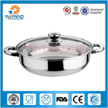 Stainless steel hot pot /induction cooking pot for sale/Indian stainless steel hot pot