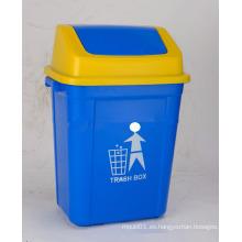 Cubo de basura de plástico para exteriores de 20L con cubierta giratoria