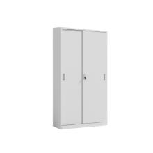 Armoire de classement blanche à porte coulissante en métal