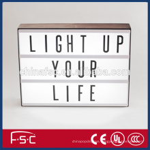 Decorated and free combination led light box with letters