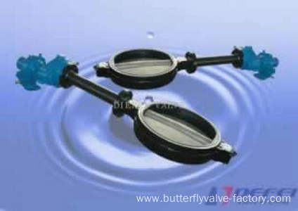 Extended Bonnet Wafer Butterfly Valve